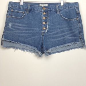 Free People Shorts - Free People Cut Off Shorts Medium Wash